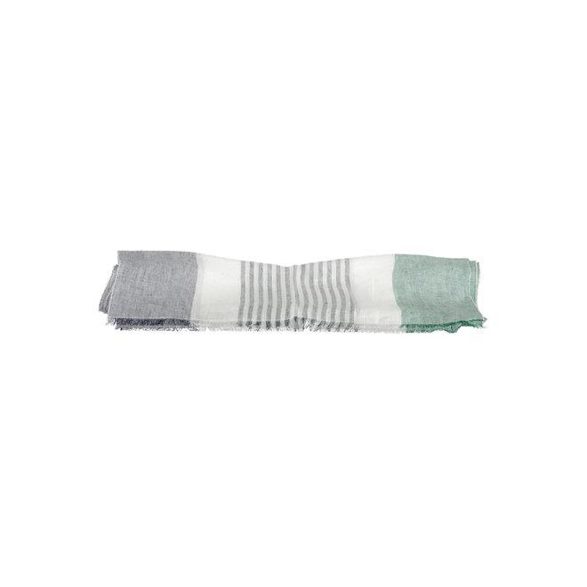 Block Stripe Scarf men - Green