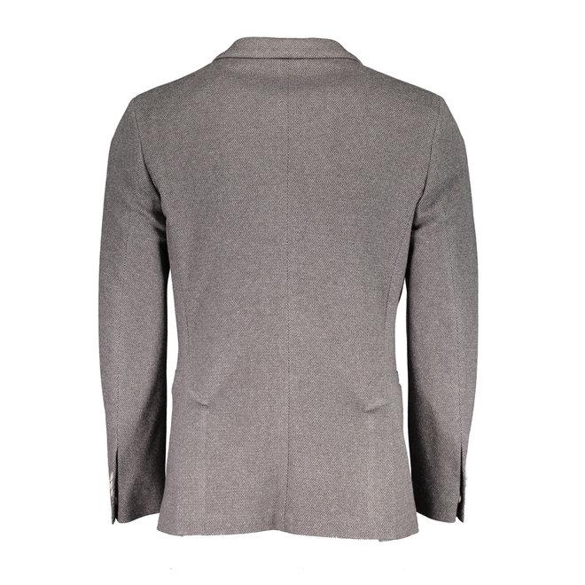 Pattern Jersey Suit Jacket - Grey