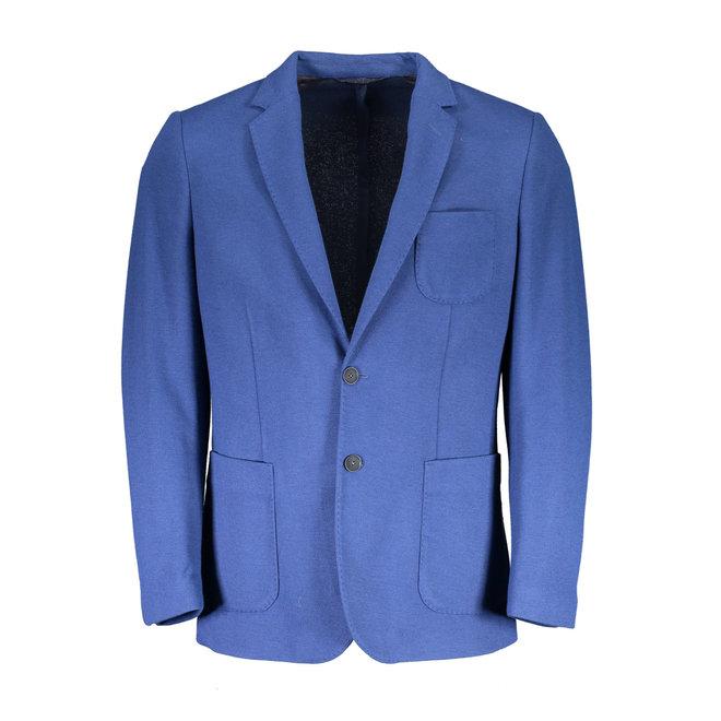 Woolen Jersey Blazer - Light blue
