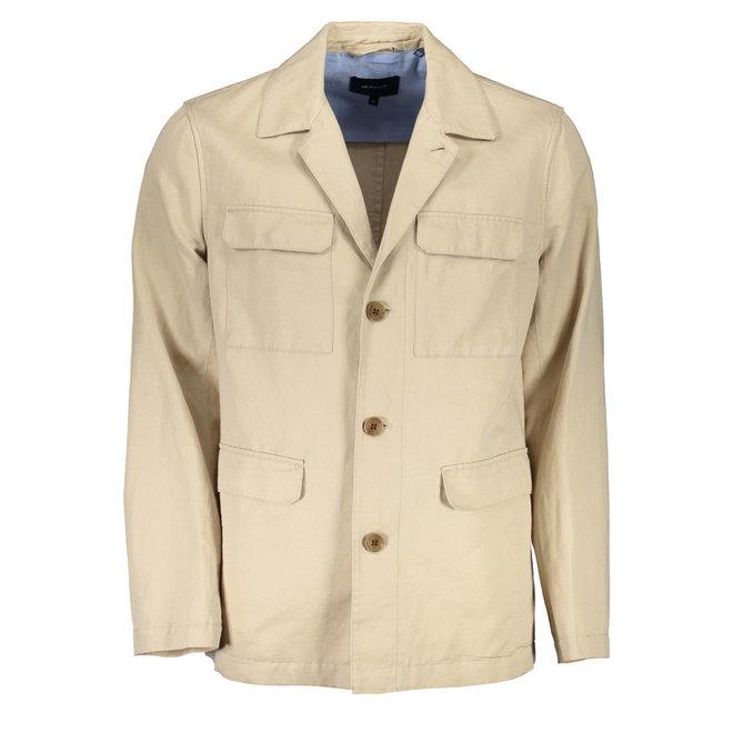 Summer 4-pocket Jacket -Beige