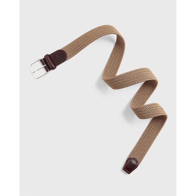 Brown Elastic Braid Belt men