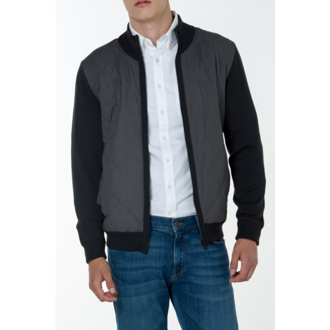 Tech. prep. Chevron quilt jacket - Grey