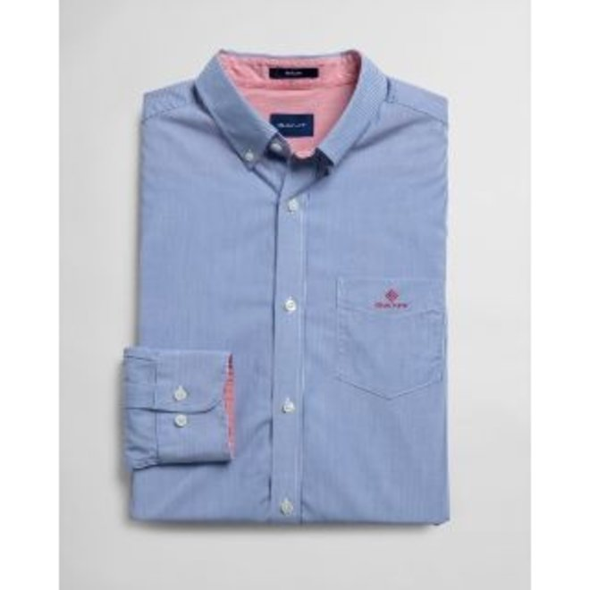 Regular Fit Micro Stripe Broadcloth Shirt