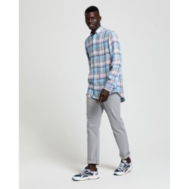 Regular Fit Linen Madras Shirt