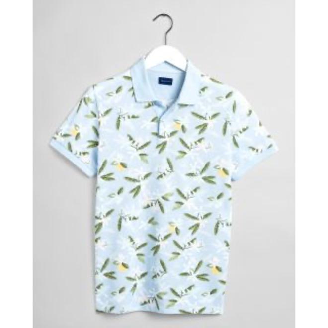Lemon Flower Print Piqué