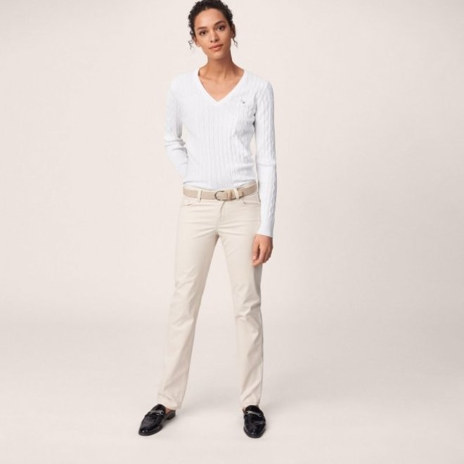 Straight Soft Jeans - Beige