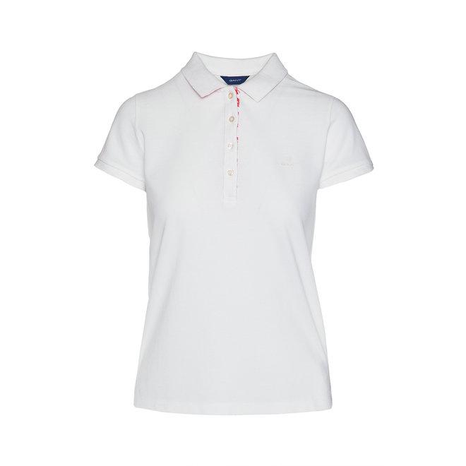 Detail Pique Polo women - white