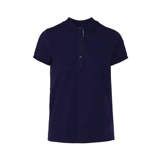 Detail Pique Polo women - Blue