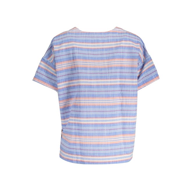 High Low Striped Top - Blue