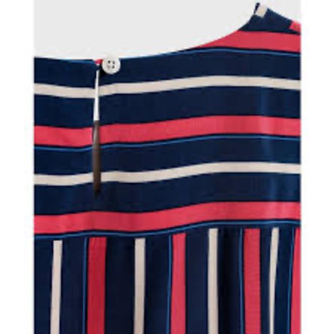 Club Stripe Top - Persian Blue