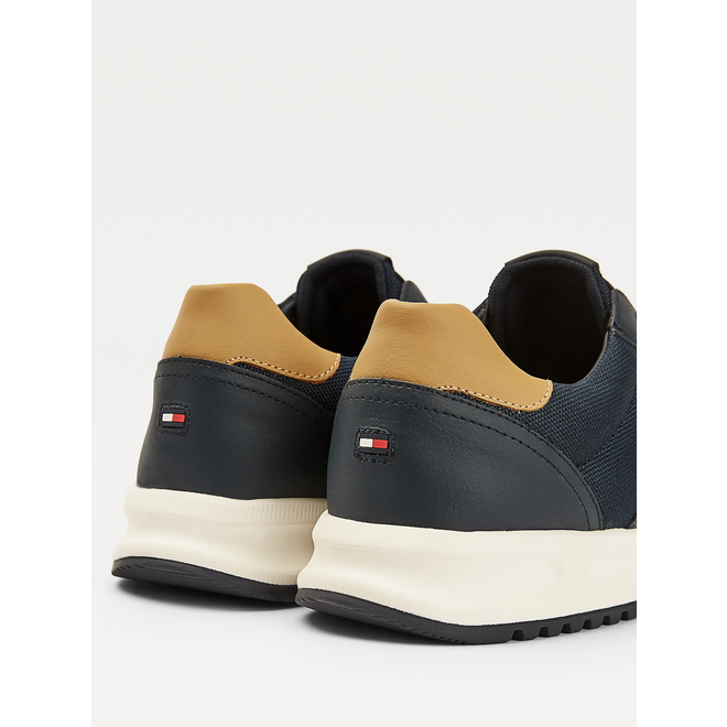 Leather Mix Trainers  men - Blue
