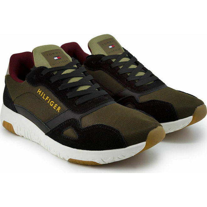 Mixed Texture Running Trainers - Multicolor