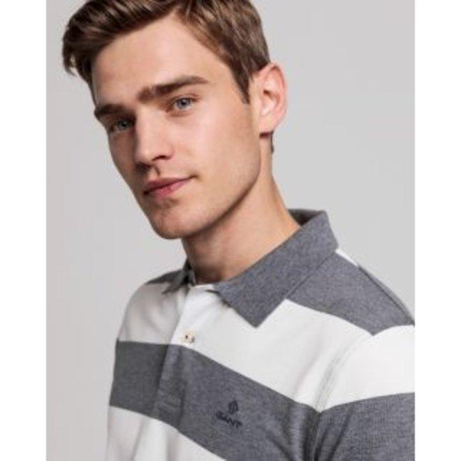 Grey Contrast Barstripe Piqué men