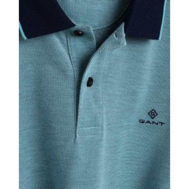 Aqua 4-Color Oxford Piqué Rugger men