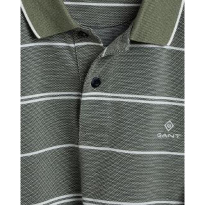 4-Color Oxford Stripe Piqué - Four Leaf Clover