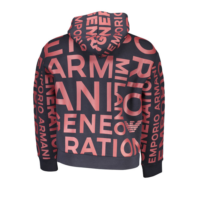 Oversize Logo Hooded Sweatshirt - Bordeaux