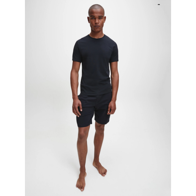2 Pack lounge T-shirts modern cotton - Black
