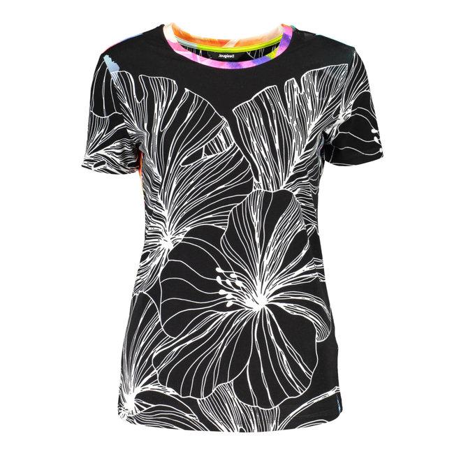 black T-shirt Leaves