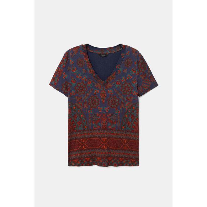 Slim boho T-shirt -  blue