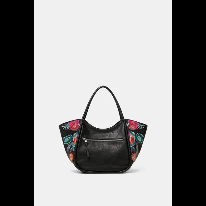 Floral shoulder-tote  bag
