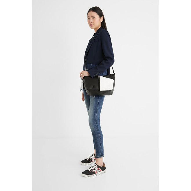 Crossed silhouette mini-bag