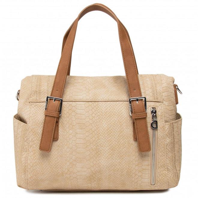 Beige Mandala Handbag