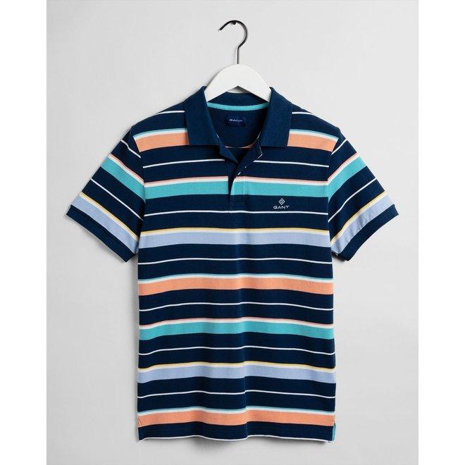 Blue Multi Stripe Piqué men