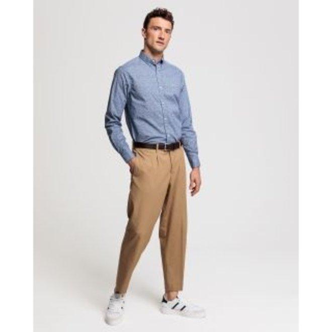 Blue Regular Fit Micro Floral Print Shirt men