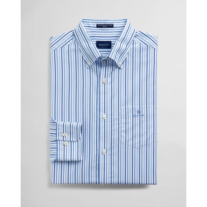 Regular Fit 3-Color Stripe Broadcloth Shirt