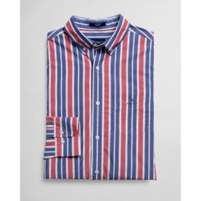 Regular Fit Tech Prep™ Stripe Broadcloth Shirt -Red