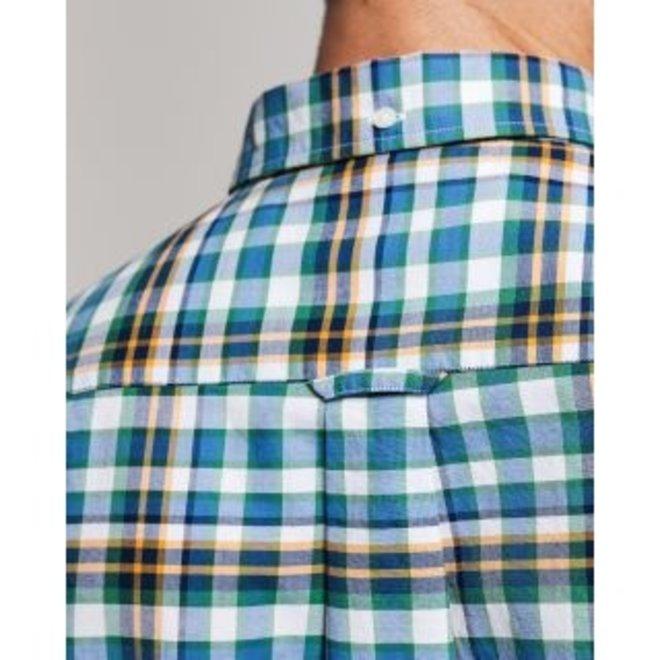 Regular Fit Preppy Plaid Oxford Shirt - Warm Sun