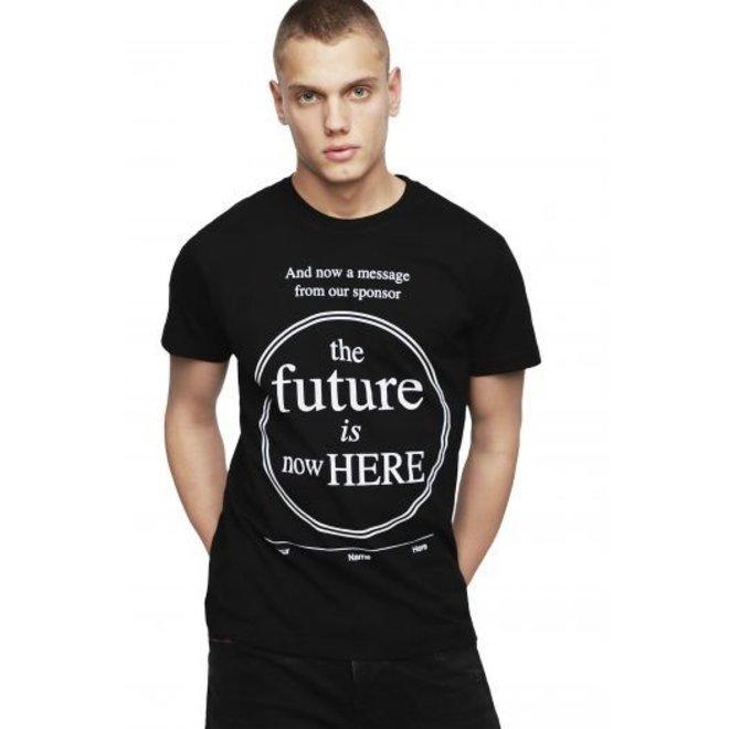 T-Shirt with circle print - Black