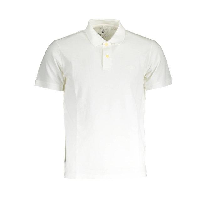 Sunfaded Piqué Rugger  - White