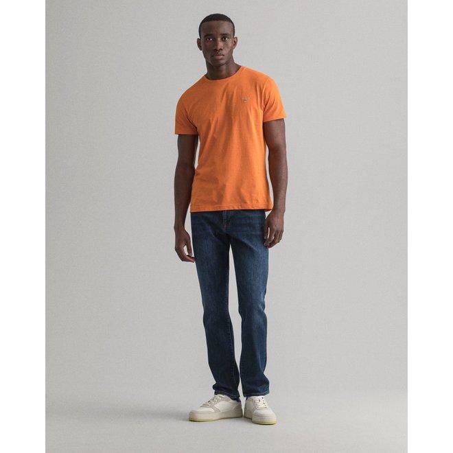 Slim Fit Jeans men -  Dark Blue Worn In