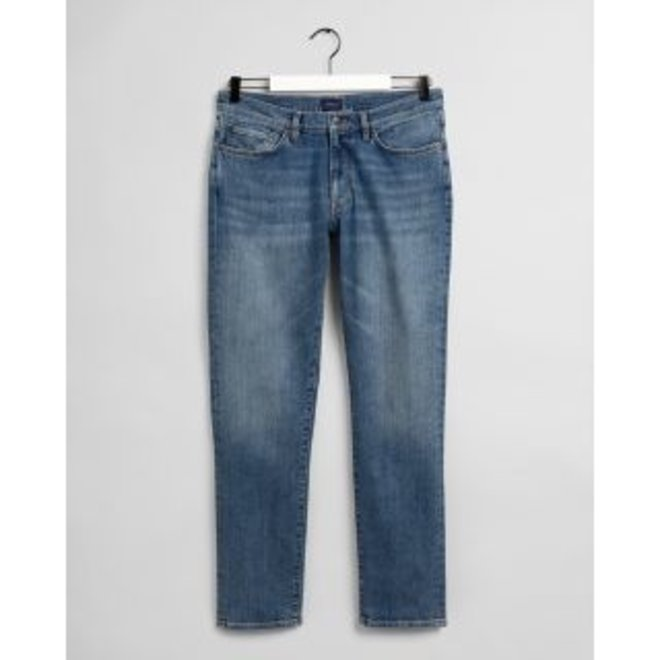 Slim Fit Jeans men - Mid Blue Worn In