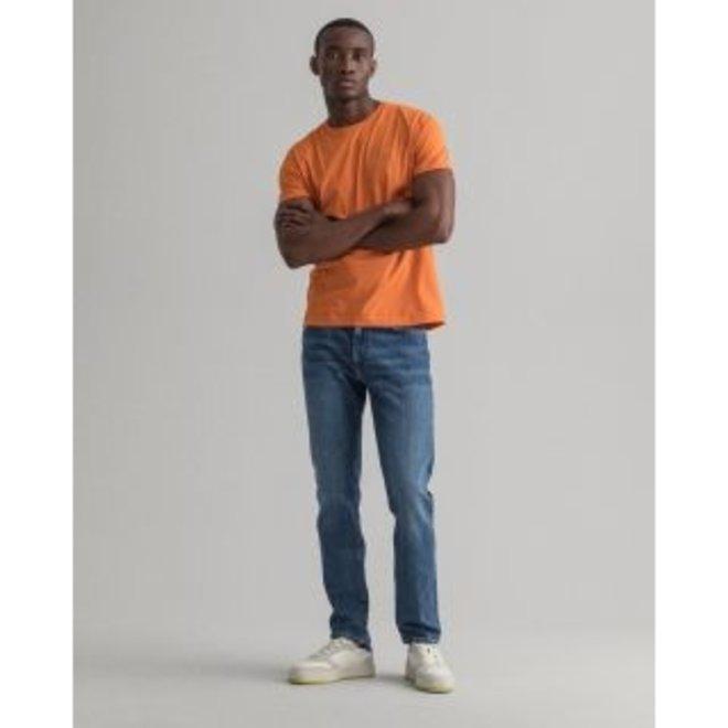 Slim Fit Jeans men -  Semi Light Blue Worn In