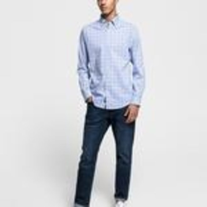 Blue Oxford Checked Shirt