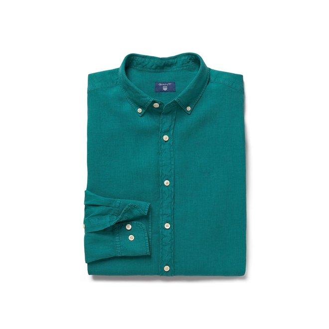Linen Regular Fit Shirt - Green
