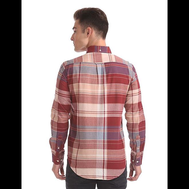 Selvedge Bleeding Madras Button Down Shirt