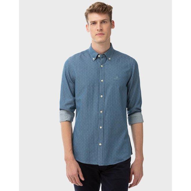 Slim Dobby Indigo shirt