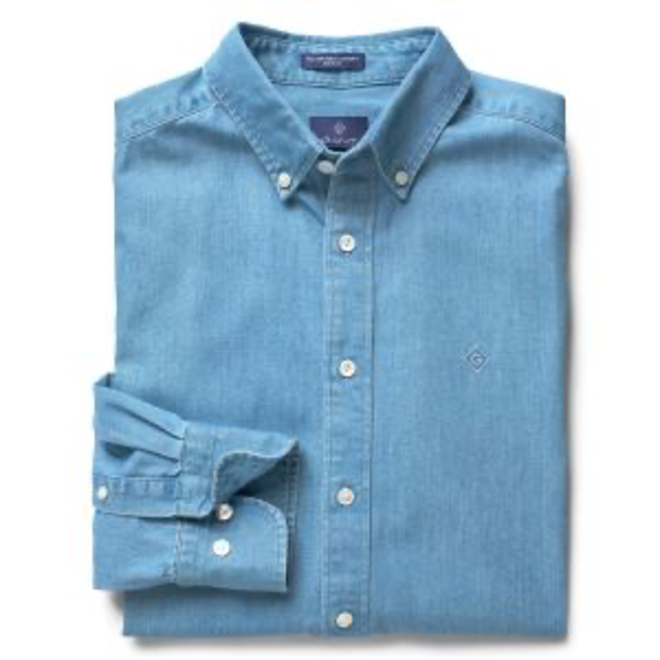 Regular Tech Prep™ Indigo Chambray shirt