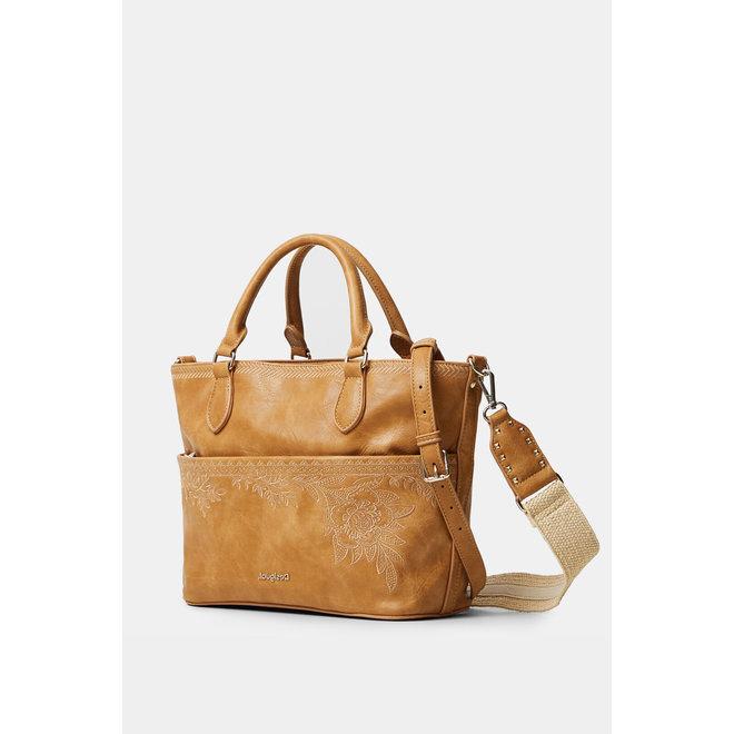 Floral handbag - Light brown