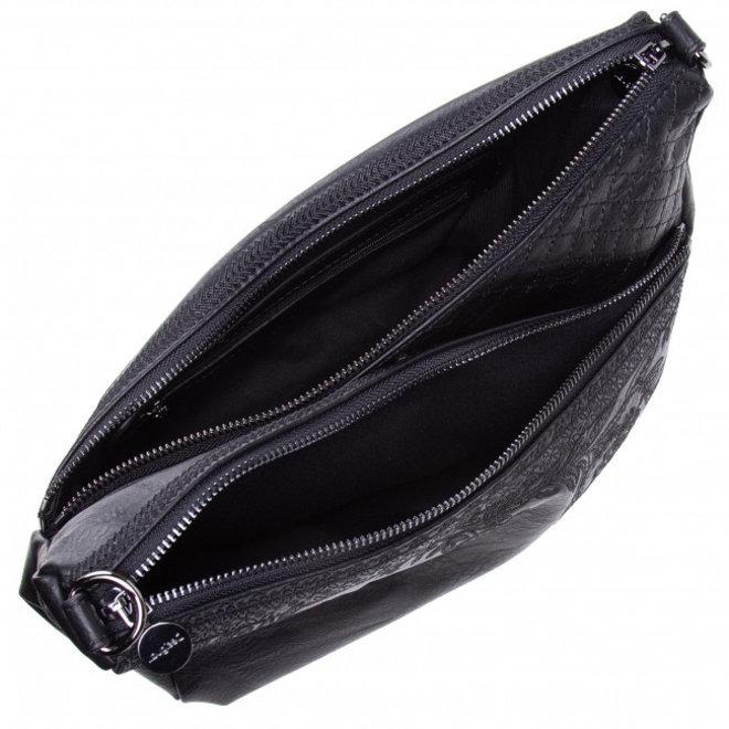 Floral crossbody bag - Black