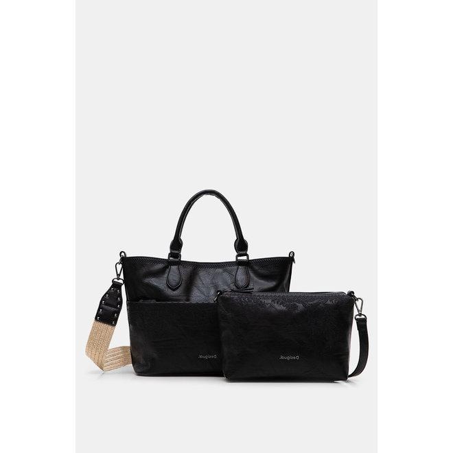 Floral handbag - Black