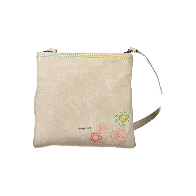 Embroidered mandalas Bag - Beige