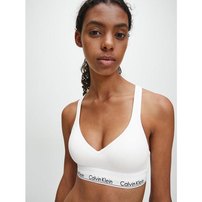 Bralette modern cotton - White