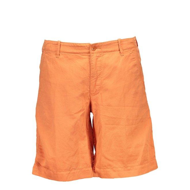 Regular Fit Sunfaded Shorts - Orange