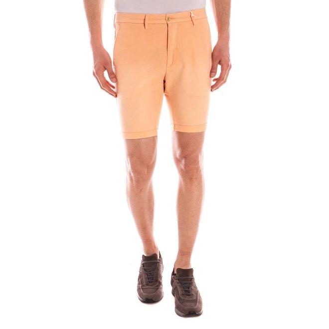 Regular Fit  Cotton/linen  Shorts -Melon