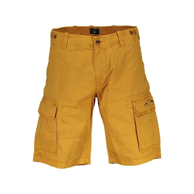 Relaxed Fit Twill Utility Shorts- Yellow