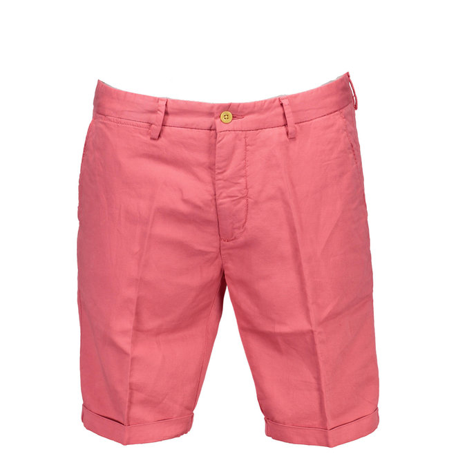 Relaxed Fit Linen Shorts - Pink